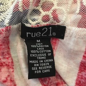 Rue21 Tops - [rue21] American Flag Lace Sleeveless Top